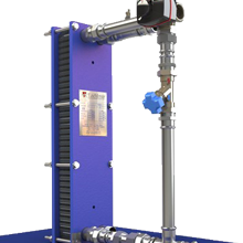 Packaged plate heat exchanger